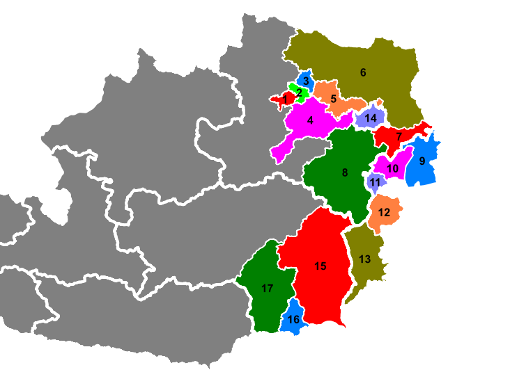 Wine-growing regions in Austria