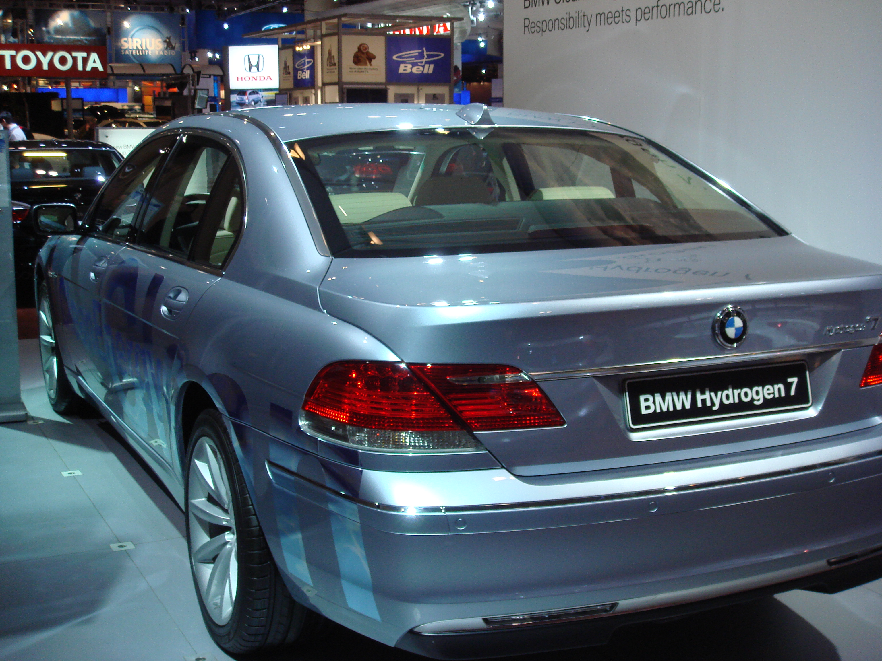 BMW Hydrogen 7 car - Color: Silver  // Description: amazing