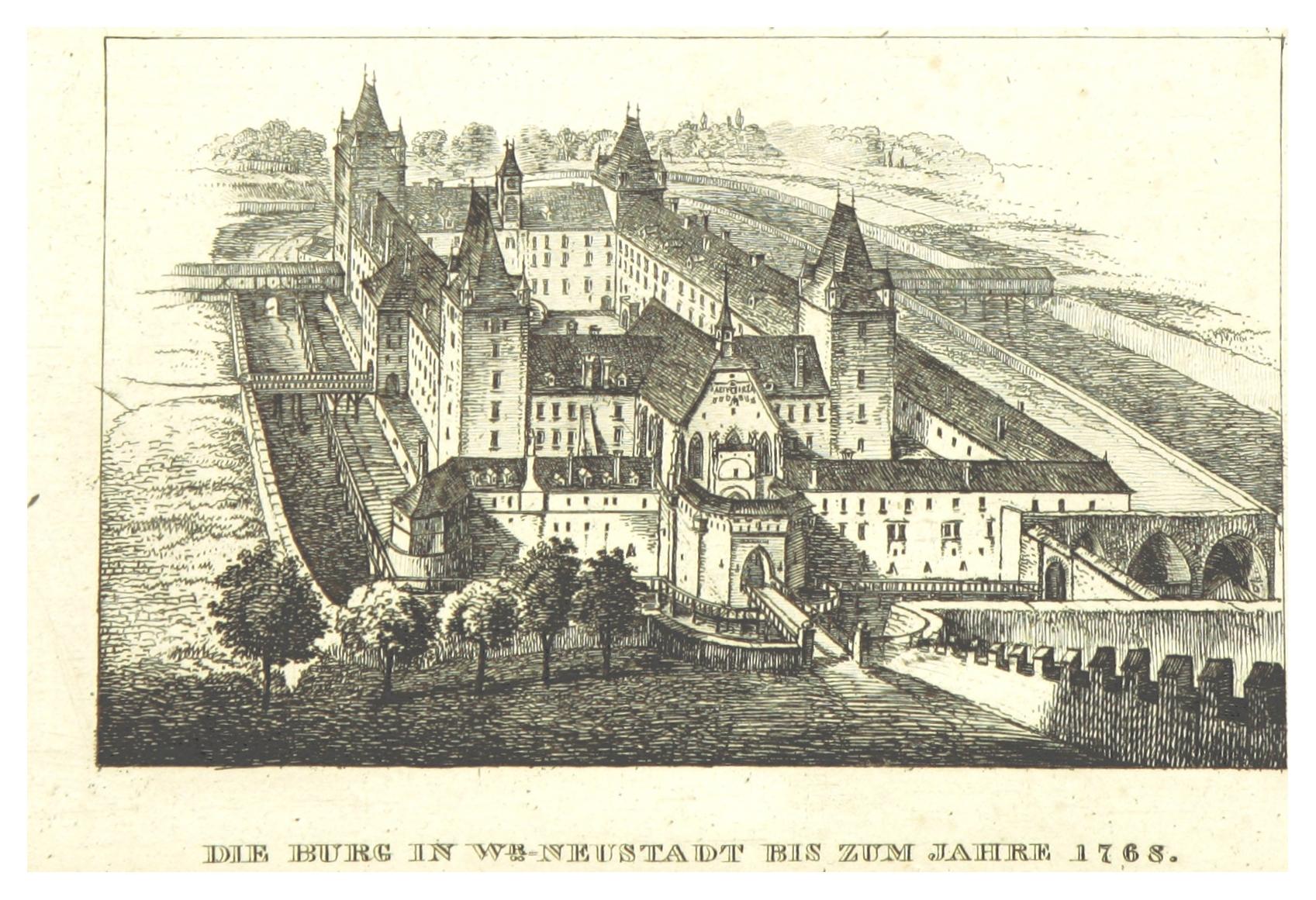 File:BOEHEIM(1830) p1.208 DIE BURG IN WIENER-NEUSTADT VOR