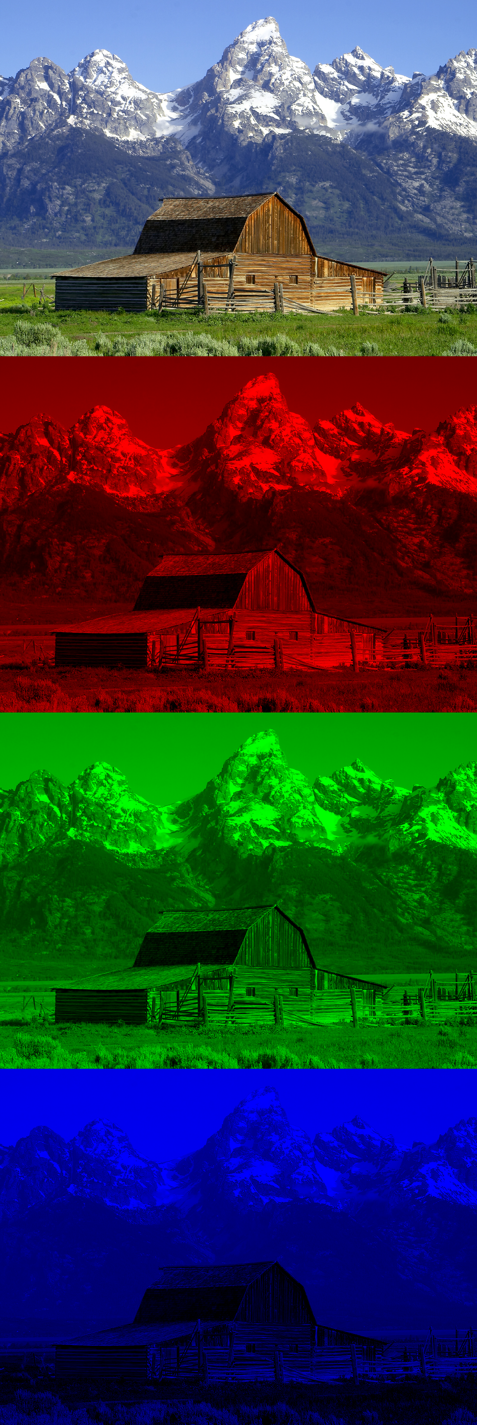 RGB Farbseperation