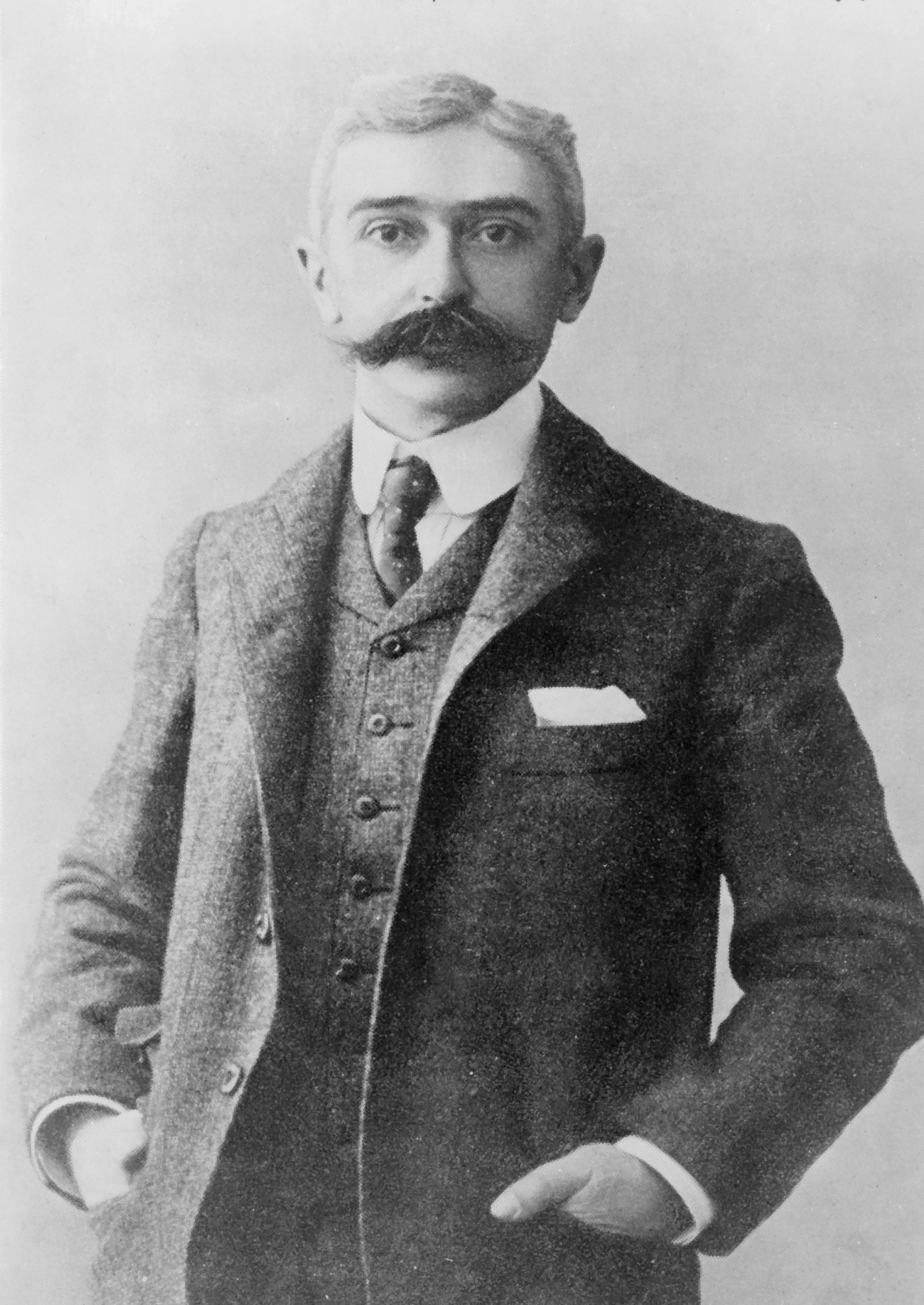 Depiction of Pierre de Coubertin