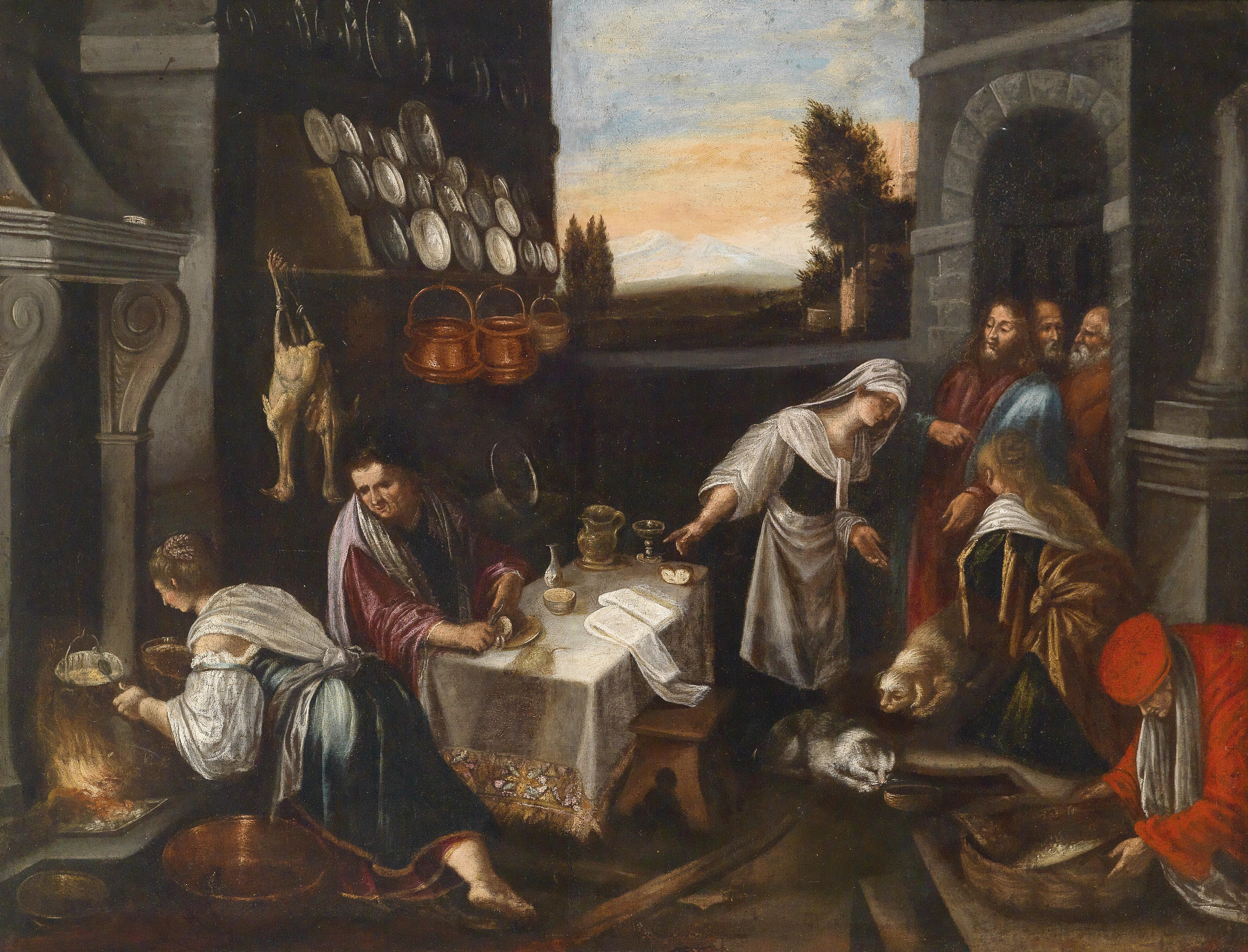 Wonderful File:Bassano (follower) Christ In The House Of Martha And Mary