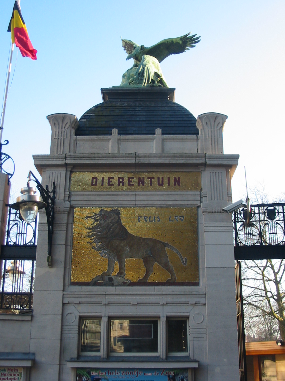 Belgija Belgium,_Antwerp_Zoo,_Entrance_Gate
