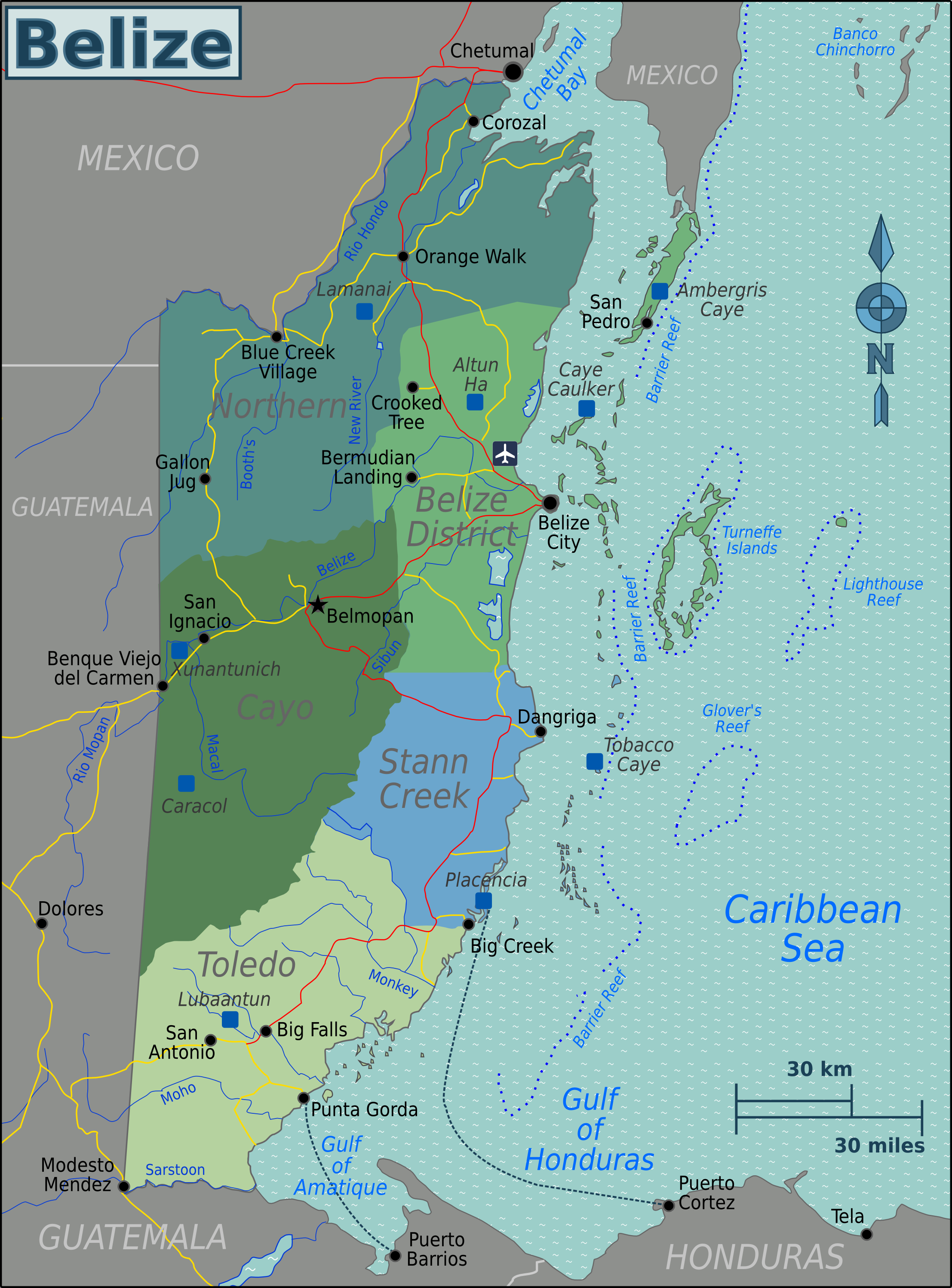 Atlas of belize wikimedia commons belize regions mapg gumiabroncs Gallery