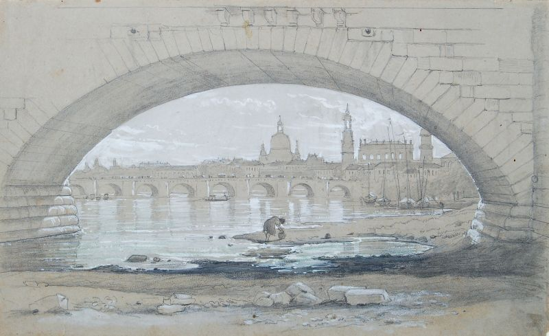 Blick auf Dresden von der Marienbrücke aus
