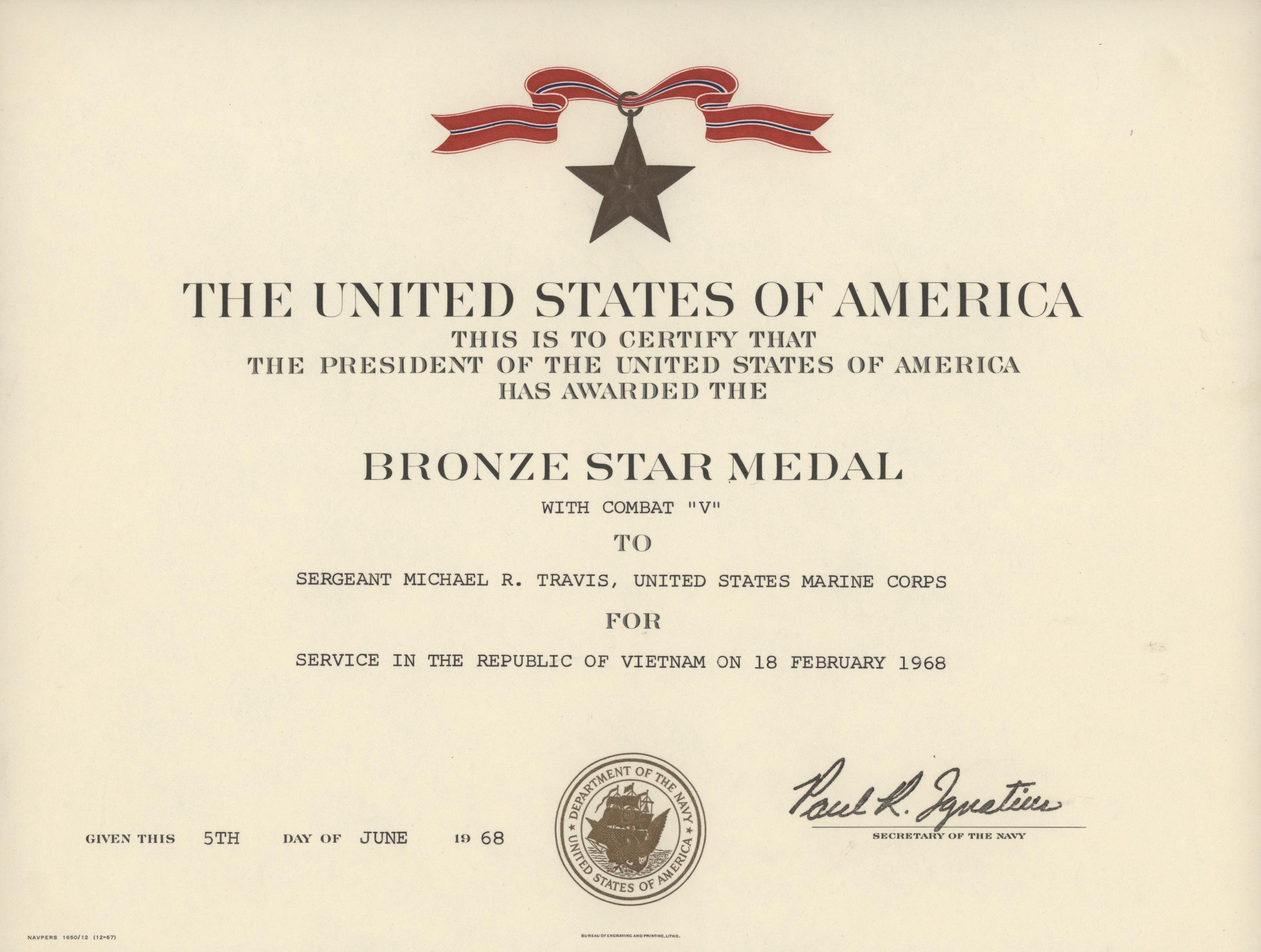 Filebronze Star Certificate 1968 5955673392g Wikimedia Commons