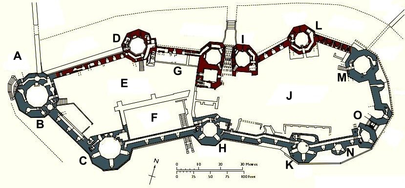 File Caernarfon Castle Plan Labelled Png Wikimedia Commons