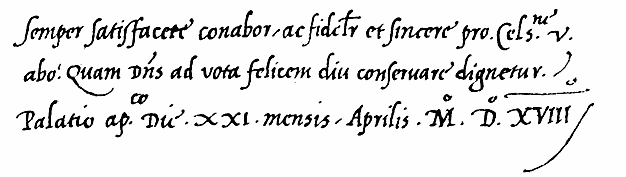 Chancery Cursive Cancelleresca Corsiva Hand Papal Letter To Christian II Of Denmark
