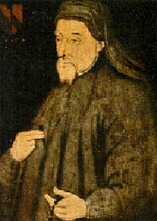 Geoffrey Chaucer begint aan The Canterbury Tales