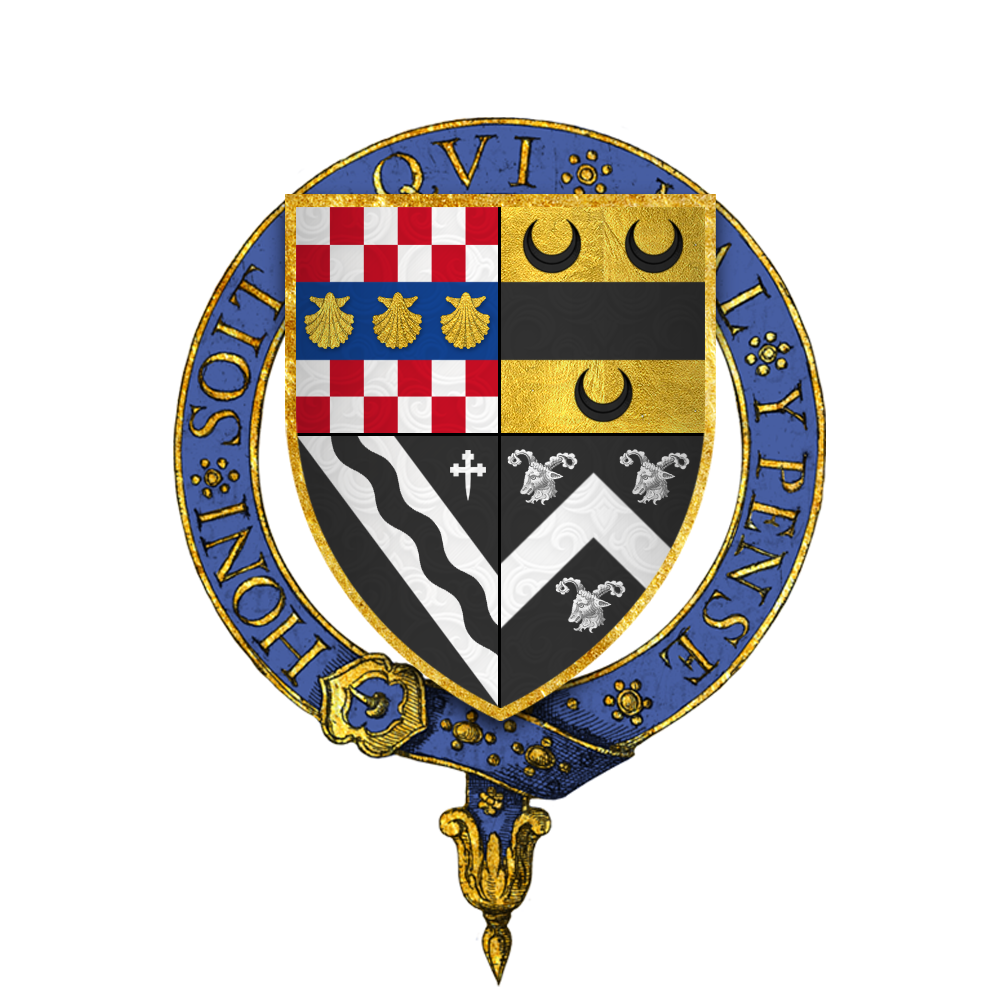 File:Coat of arms of Sir Robert Rochester, KG png