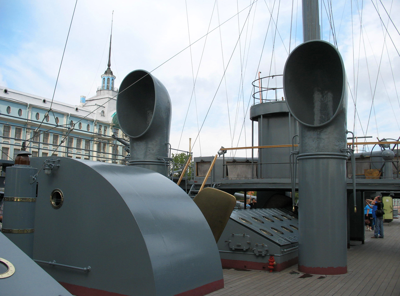 File:Cruiser Aurora. Pipes of air inlets.jpg - Wikimedia Commons