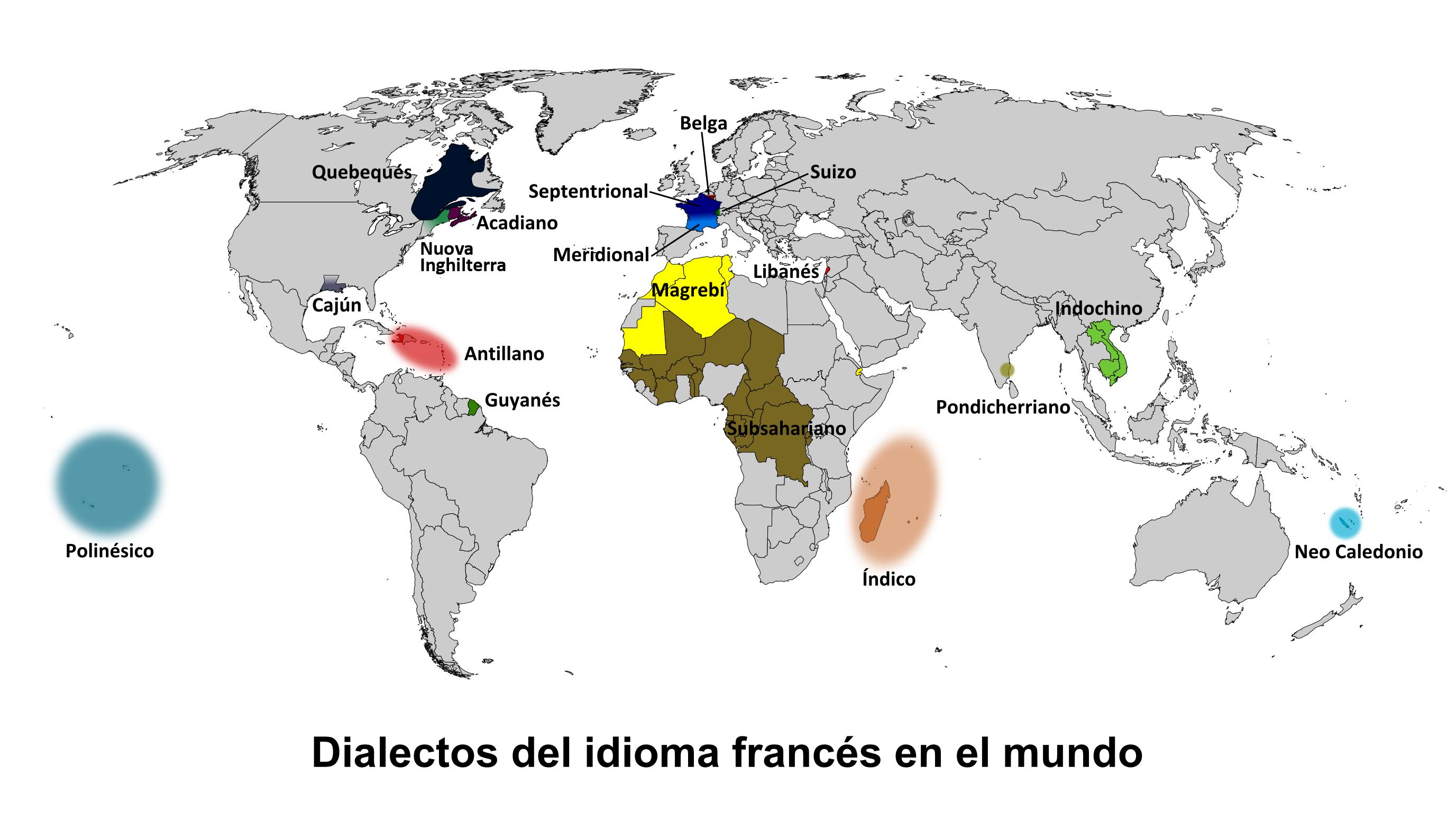 el idioma frances en el mundo: