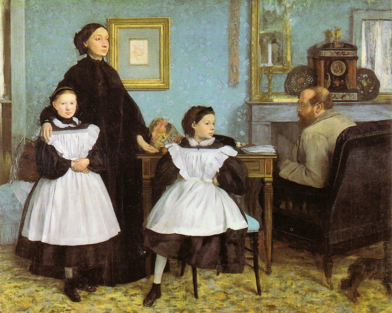 English: Bellelli family, paint of Edgar Degas.