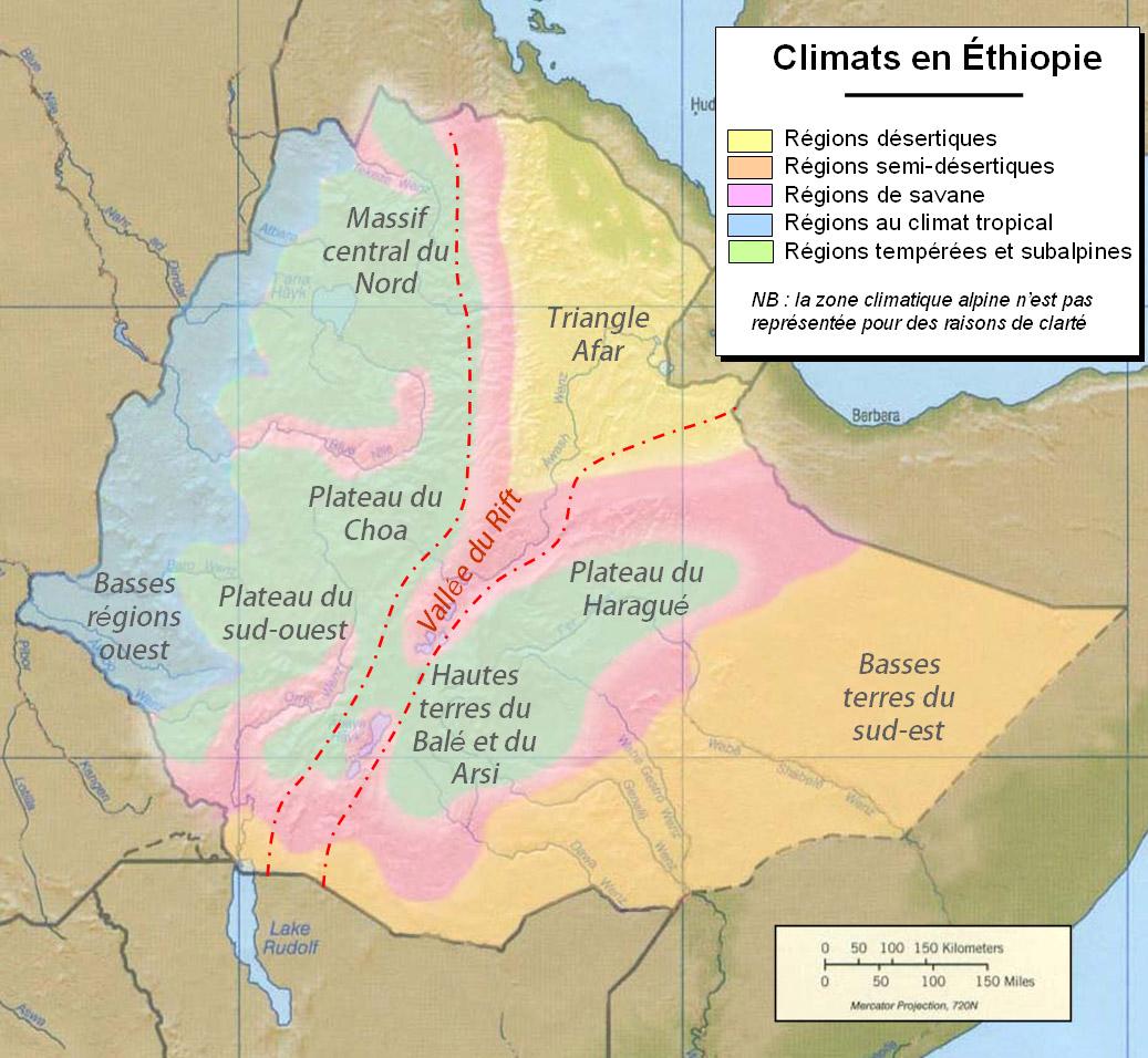 Ethiopia Map Major Cities