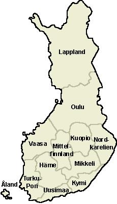 Finnland Karte Regionen.Provinzverwaltung In Finnland Wikipedia