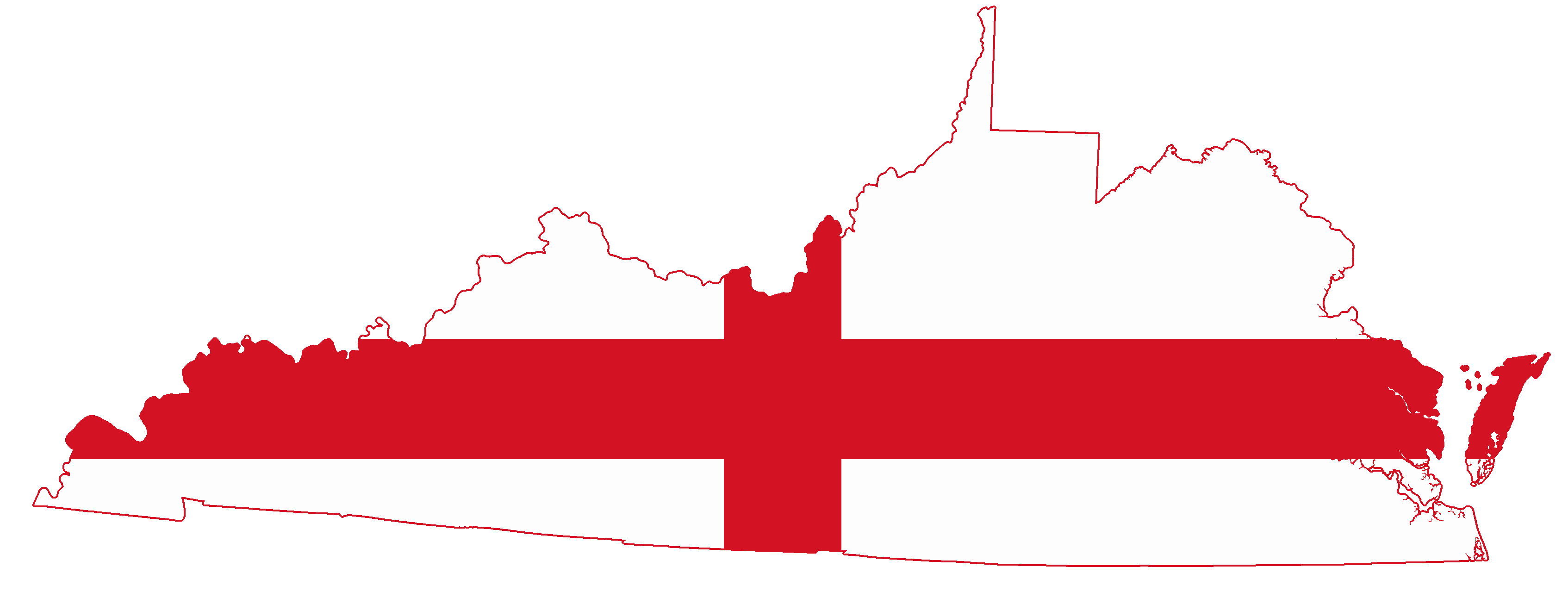 Description Flag map of the Colony of Virginia (English Flag).png