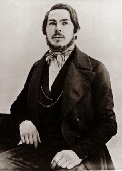 An early photograph of Engels, which has been asserted as showing him at age 20–25 (c. 1840–45)[5][35][36][37]