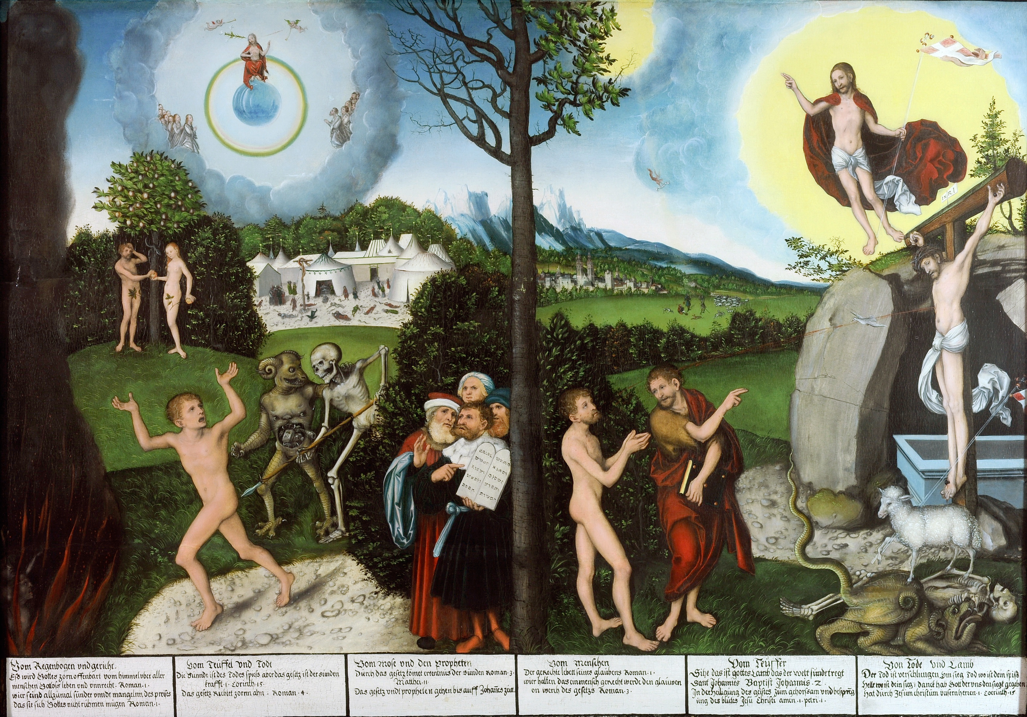 Law and Gospel (Cranach) - Wikipedia