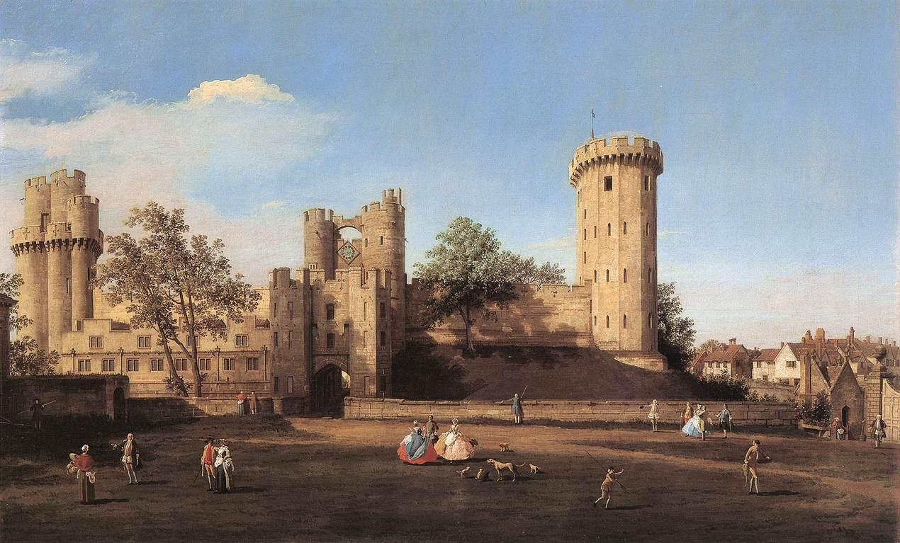 Canaletto, Warwick Castle, East Front, Birmingham Museum and Art Gallery