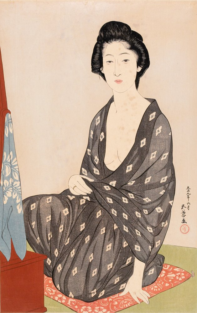 File Hashiguchi Goyo 1880 1921 Woman In Summer Clothing