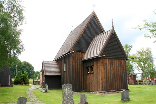 Bild av Hedareds stavkyrka
