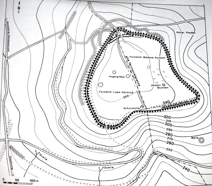 Topographische Karte der Herlingsburg