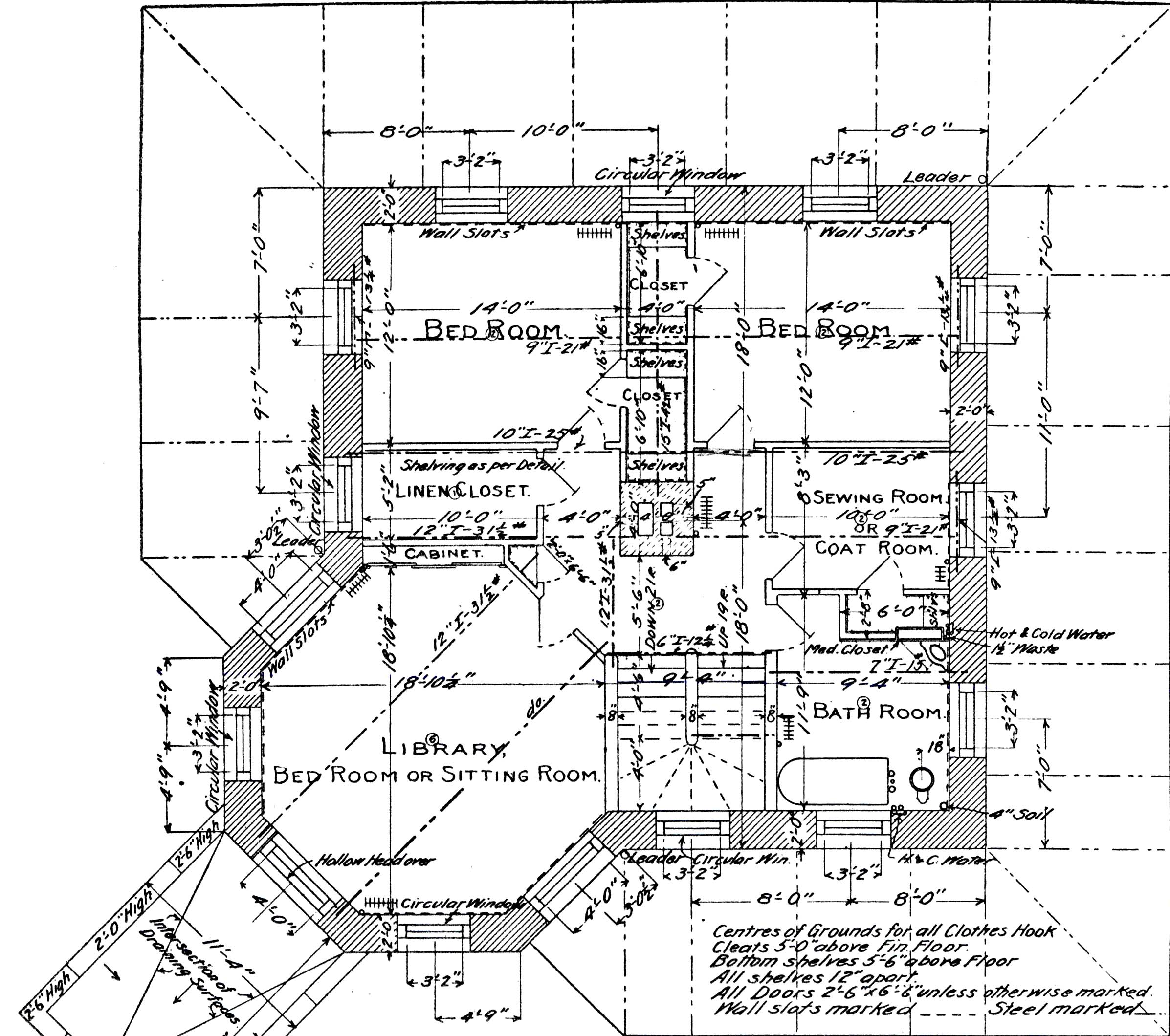 File himmelwright stone house 2nd floor for Stone house floor plans