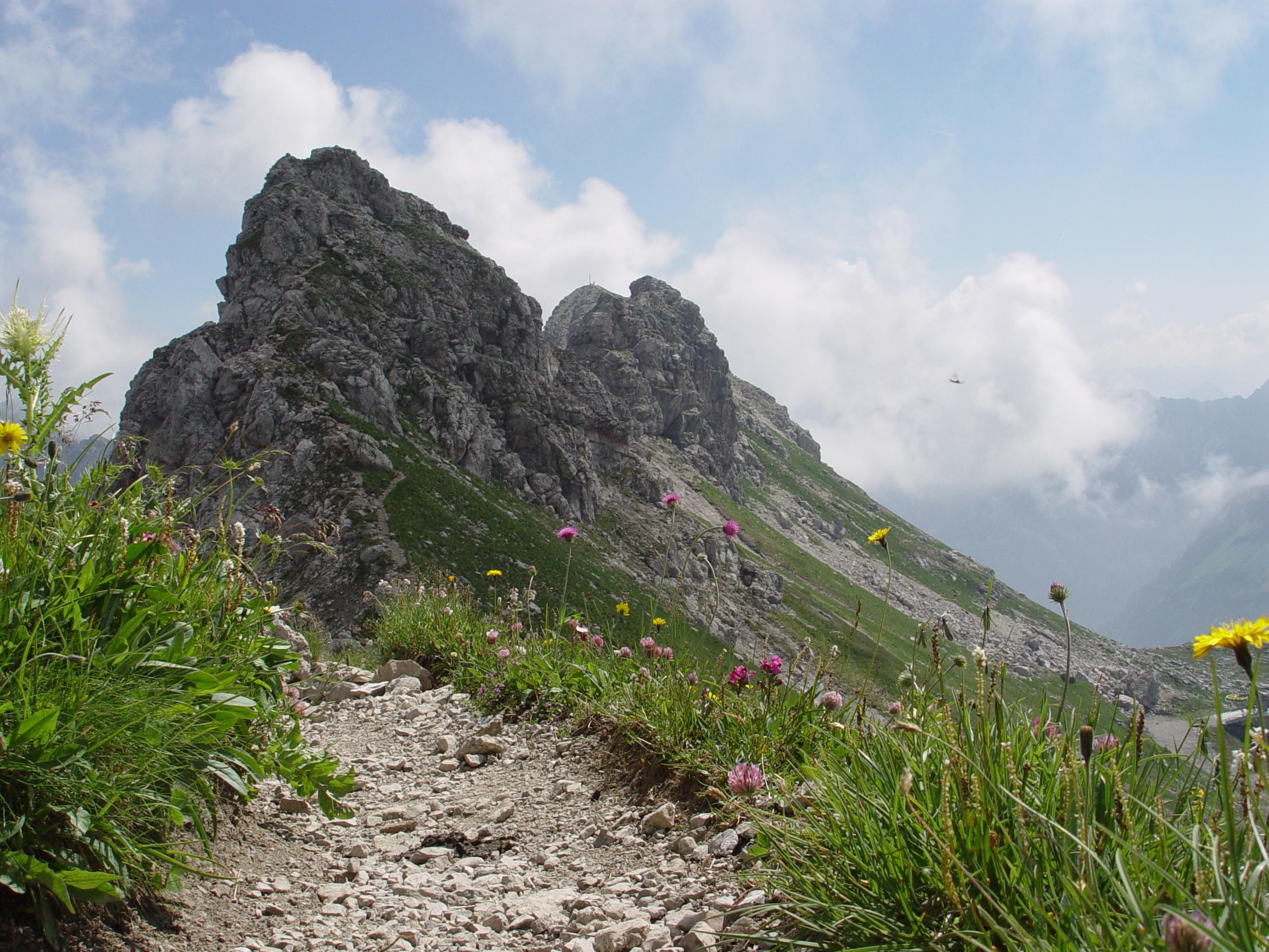Klettersteig Nebelhorn : Hindelanger klettersteig bergsteigen