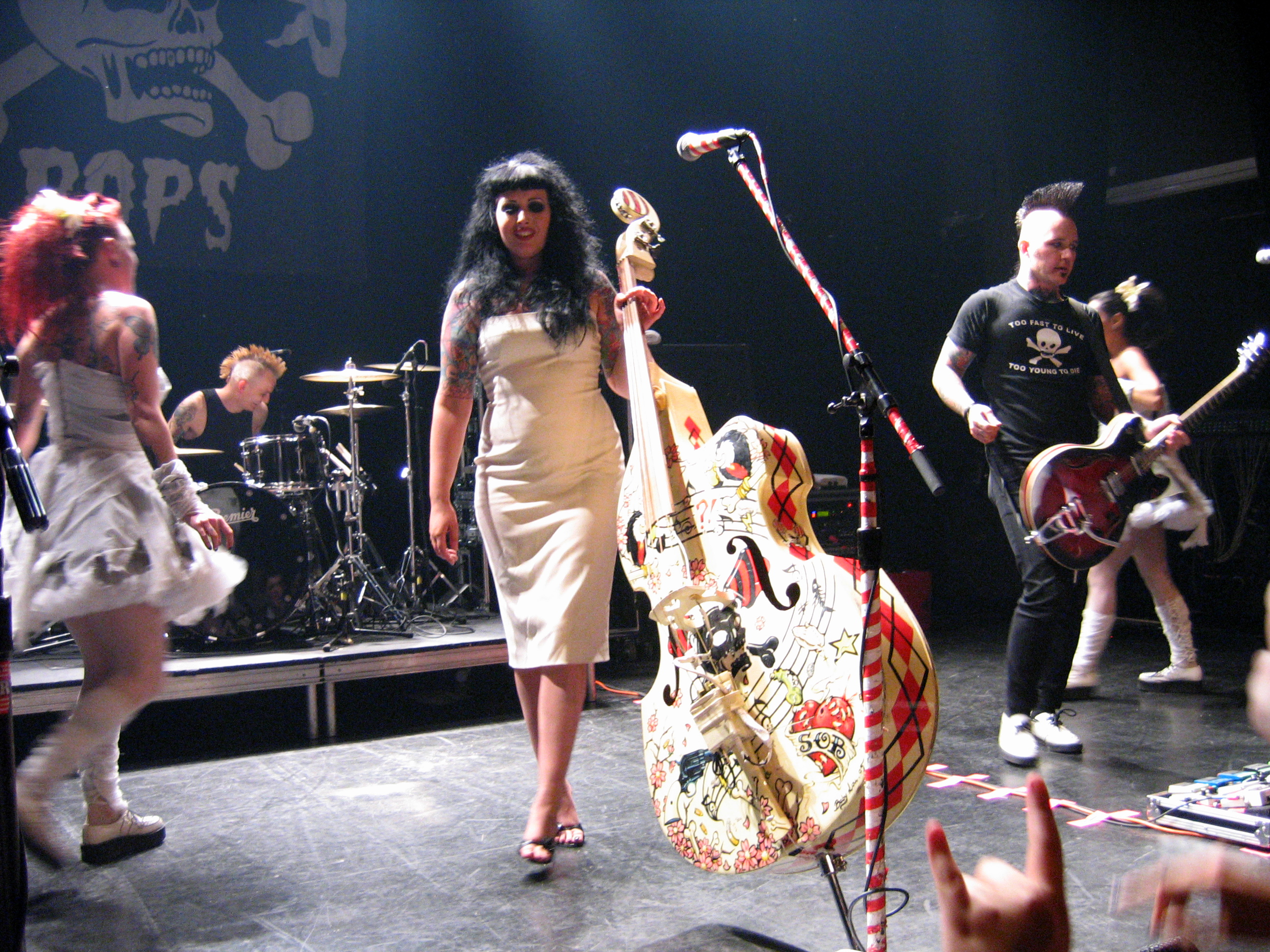 The bassist for psychobilly band The HorrorPops