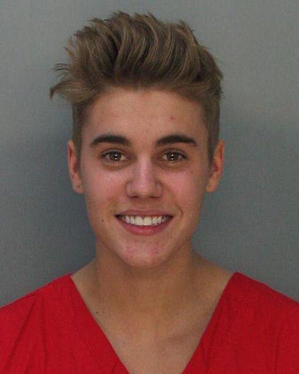 Justin Bieber's Mug Shot By Miami Beach Police Department [Public domain], via Wikimedia Commons