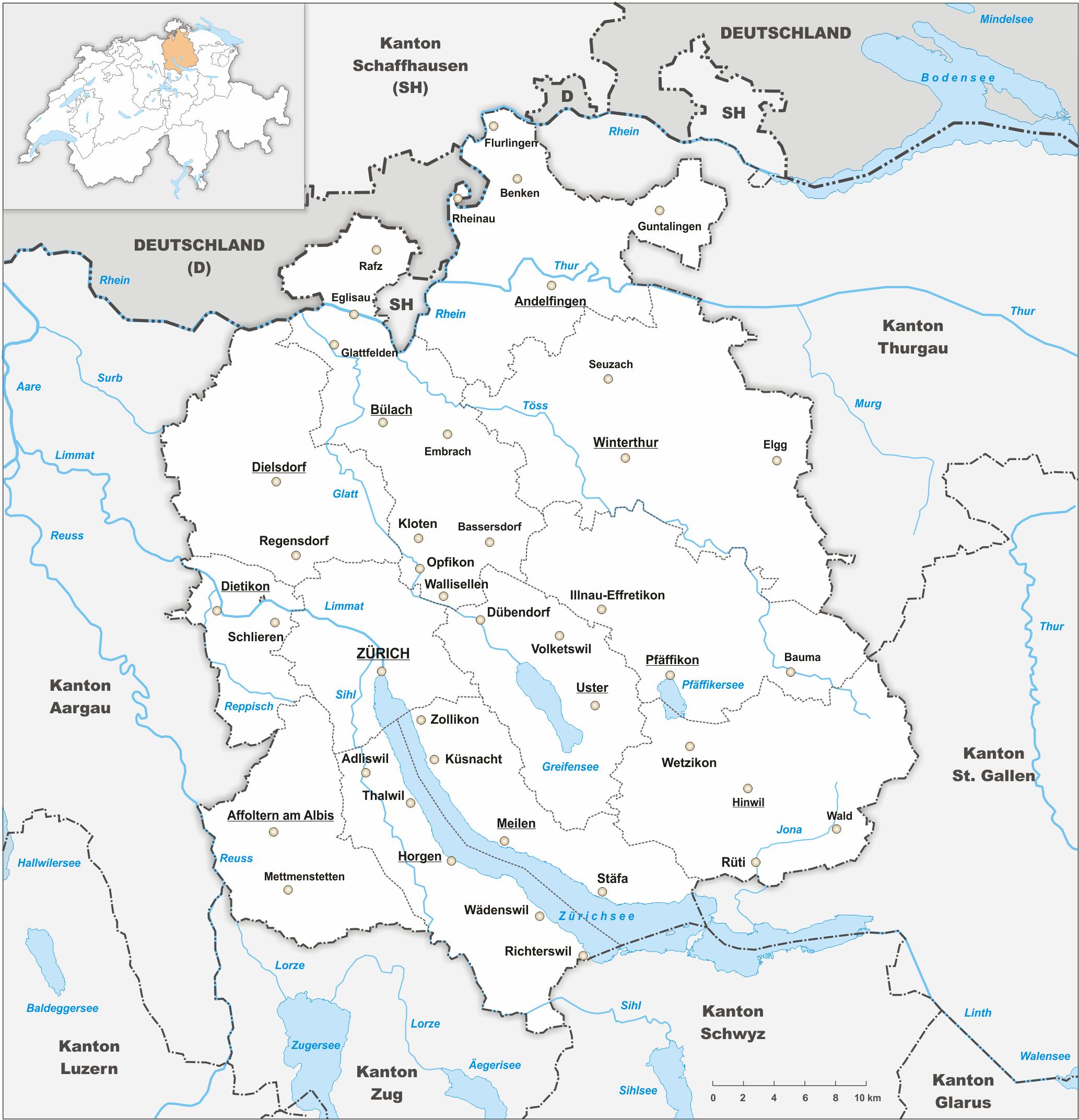 zürich karte File:Karte Kanton Zürich 2010.png   Wikimedia Commons