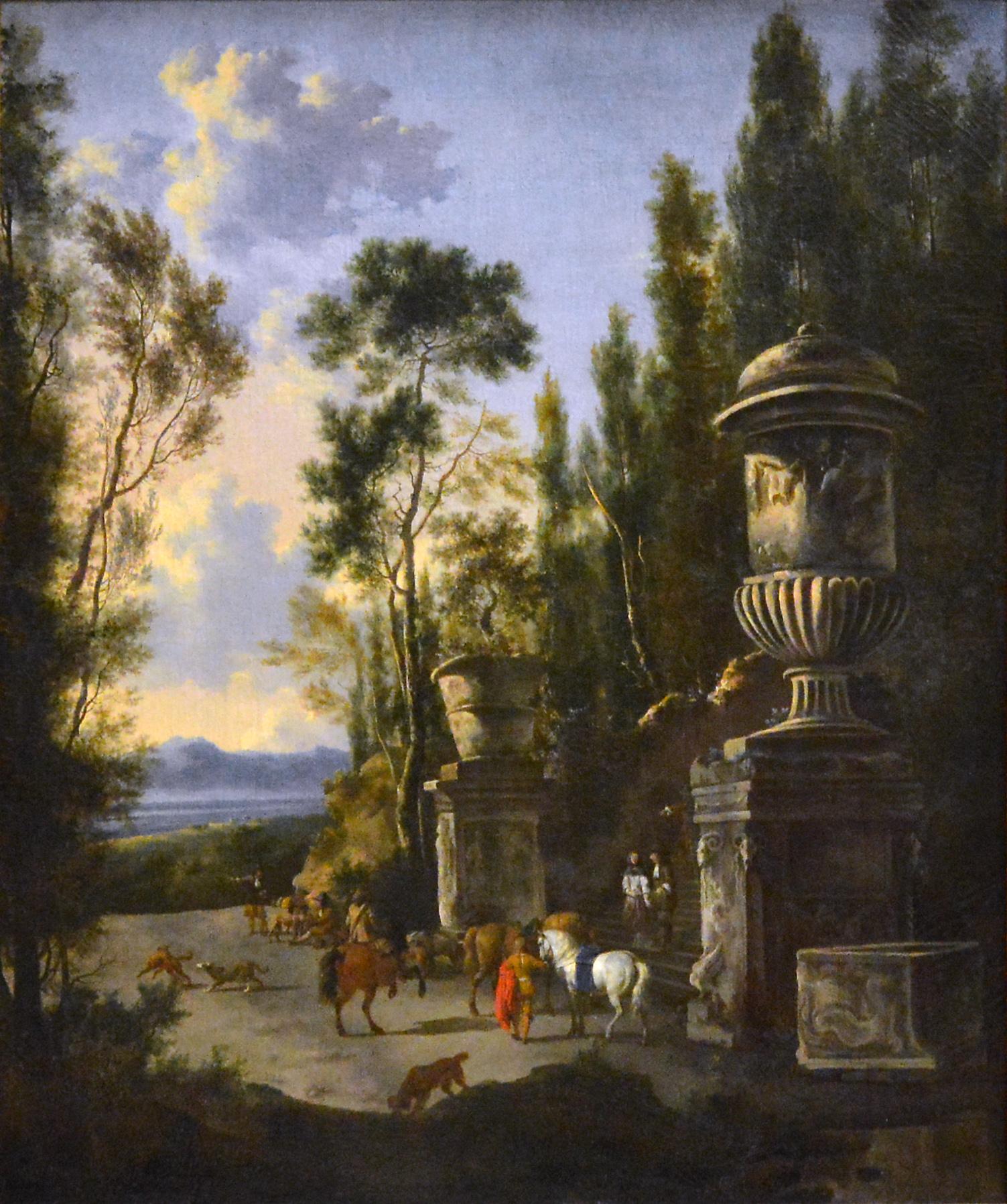 Fichier Le Depart Pour La Chasse Frederik De Moucheron Musee Du