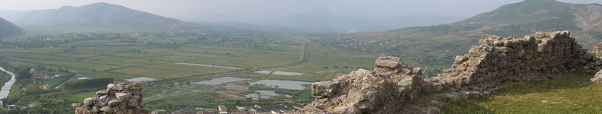 View of the Zadrima region from Lezha Castle
