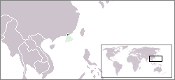 Location of Hong Kong in world map
