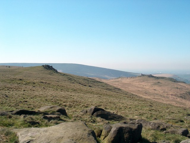 Looking down towards Pots and Pans from Dick Hill - geograph.org.uk - 1604809