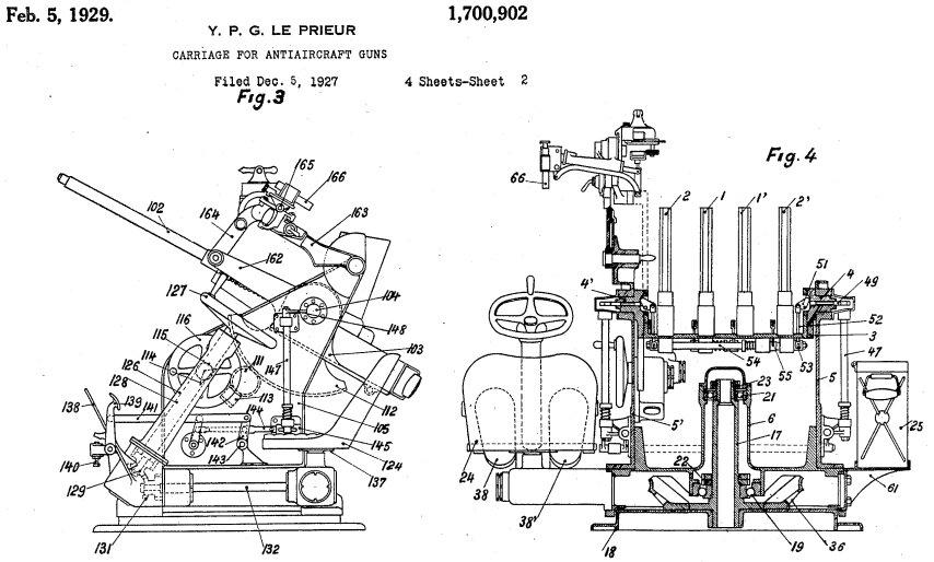 Ametralladora Hotchkiss 13,2 mm Machinegun_carriage_Le_Prieur_patent