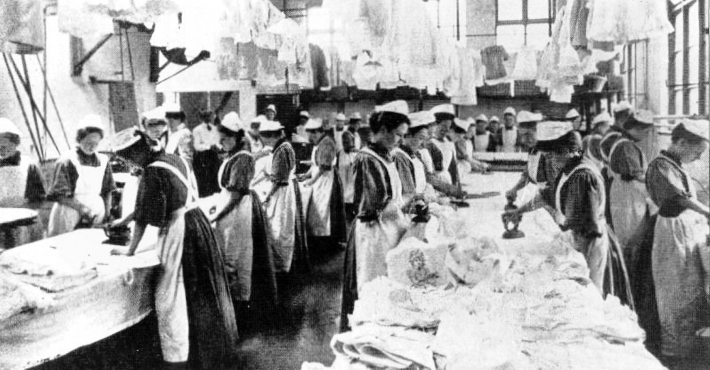 English: Magdalen Laundry in England, early 20...