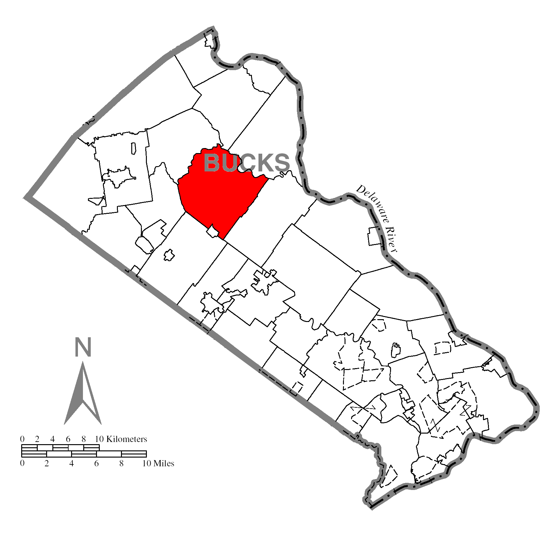 File:Map Of Bedminster Township, Bucks County