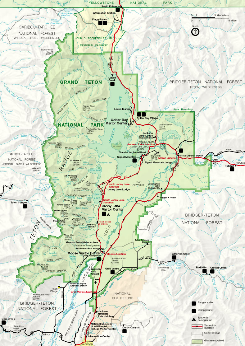RFWH Travel Tuesdays Our Big Yellowstone National Park - Jackson hole us map