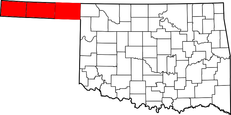 map of oklahoma panhandle