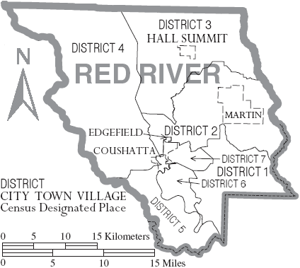 map of red river in louisiana File Map Of Red River Parish Louisiana With Municipal And District map of red river in louisiana