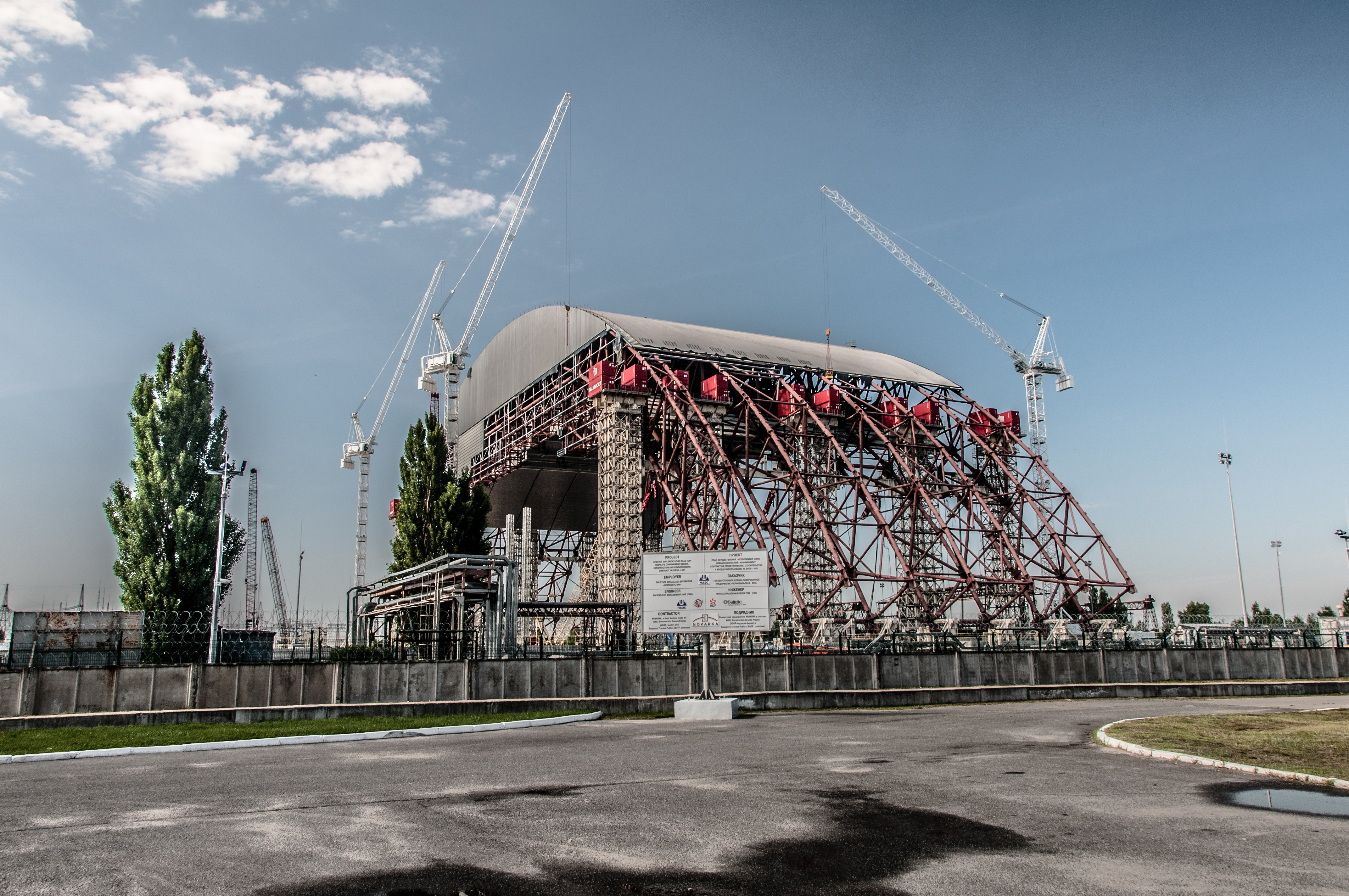 new image shelter File:New Safe Confinement (NSC or New Shelter) - Chernobyl, Ukraine ...