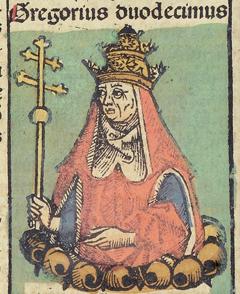 Fichier:Nuremberg Chronicles f 235v 2 Gregorius XII.jpg