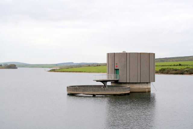Overflow tower and valve tower on Colliford Lake - geograph.org.uk - 1547486