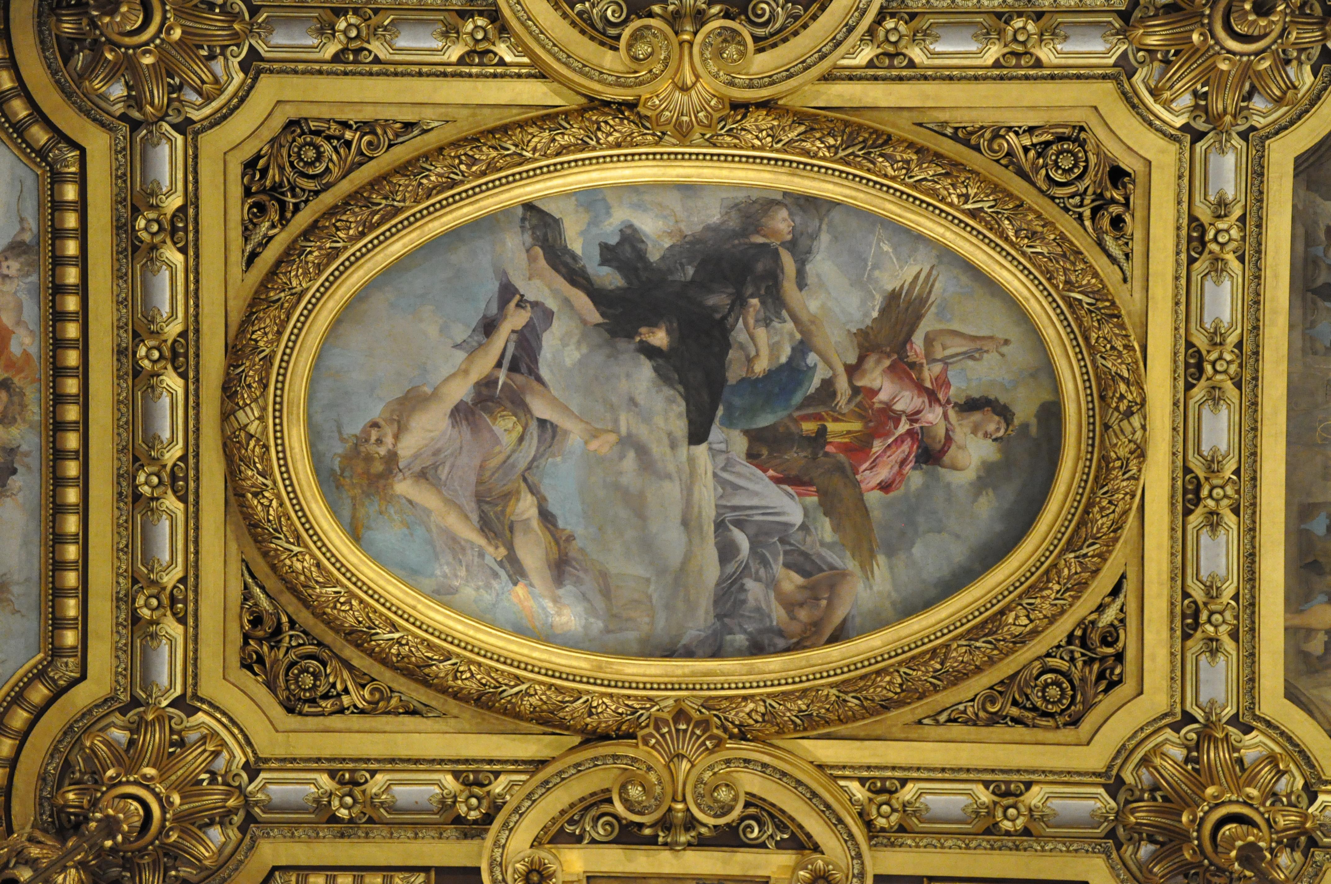 File Paris France Painted Ceiling In Op 233 Ra Garnier 2 Jpg Wikimedia Commons