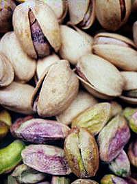Pistaasipähkinöitä