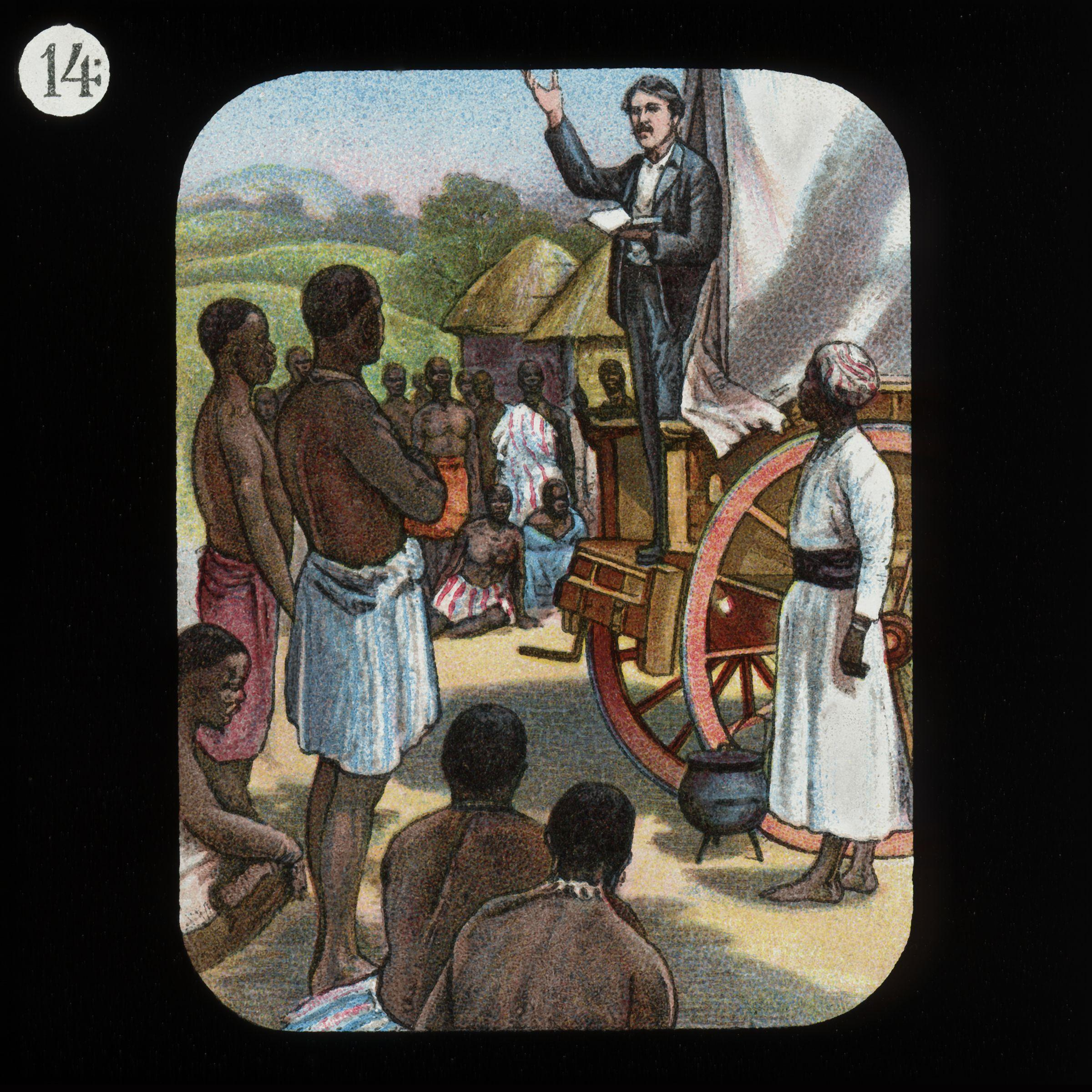 David Livingstone, early explorer of the interior of Africa and fighter against the slave trade.
