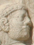 Relief of Shapur I capturing Valerian (cropped).jpg