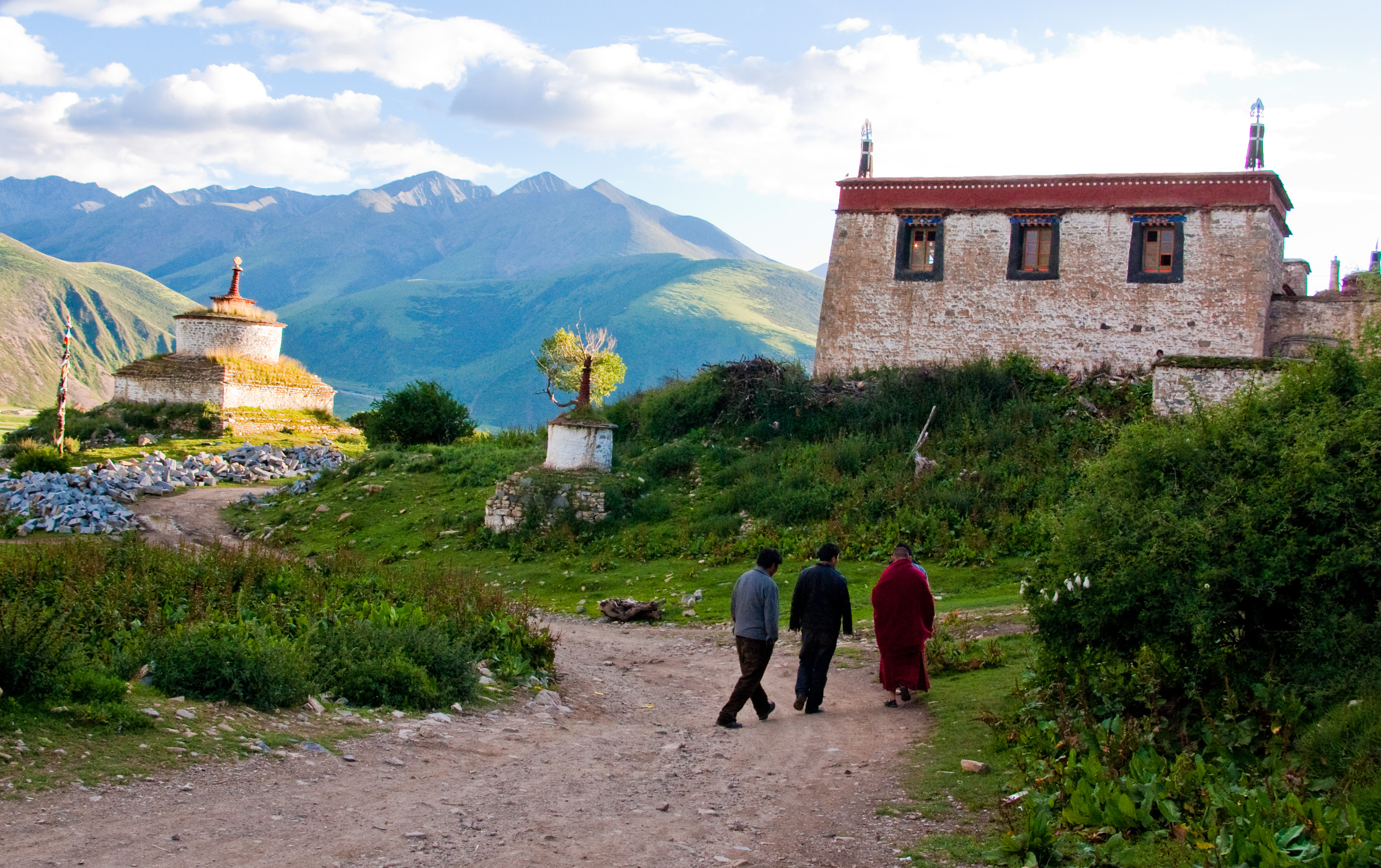 reting monastery in Lhasa prefecture in Tibet
