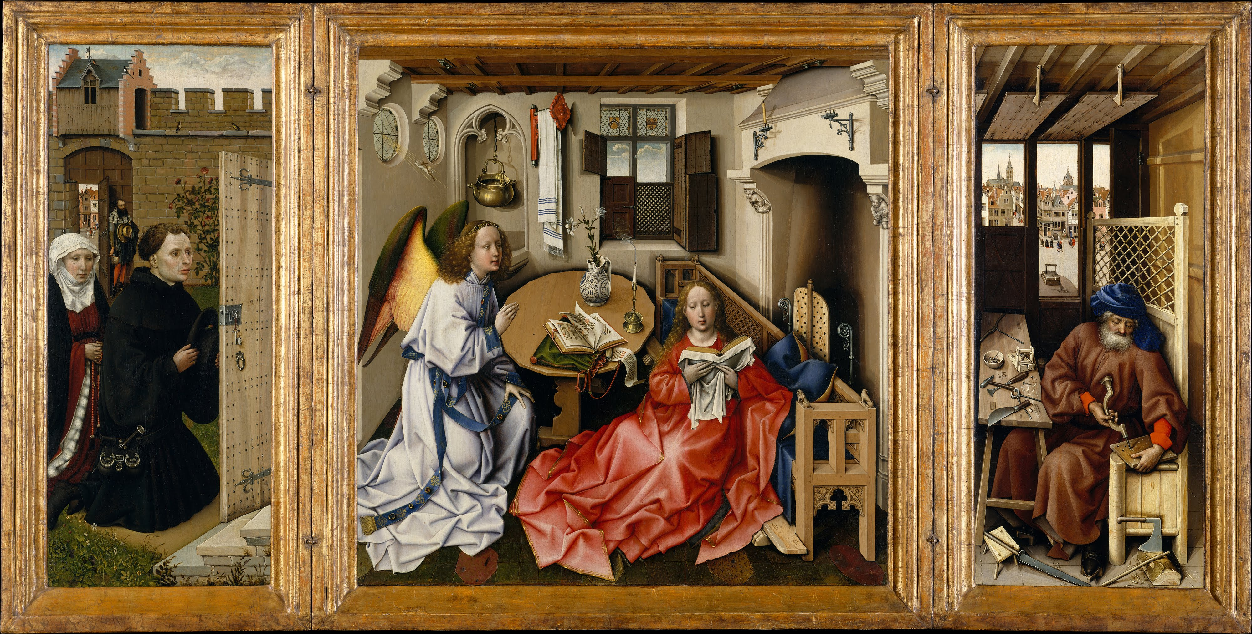 Art history symbolism and legends iconography of anounciation of iconography of anounciation of merode altarpiece by robert campin biocorpaavc Image collections